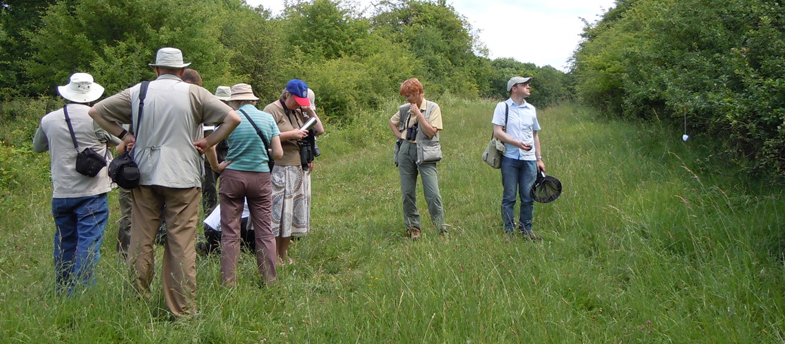 Searching for the Dark Green Fritillary at Combrook in 2008. © 2020 Steven Cheshire.