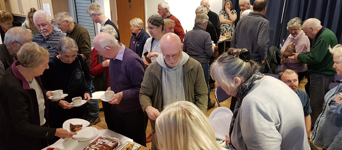 Warwickshire Branch meetings are a great way to meet people and make new friends while indulging in a slice of home made cake! © 2019 Steven Cheshire.